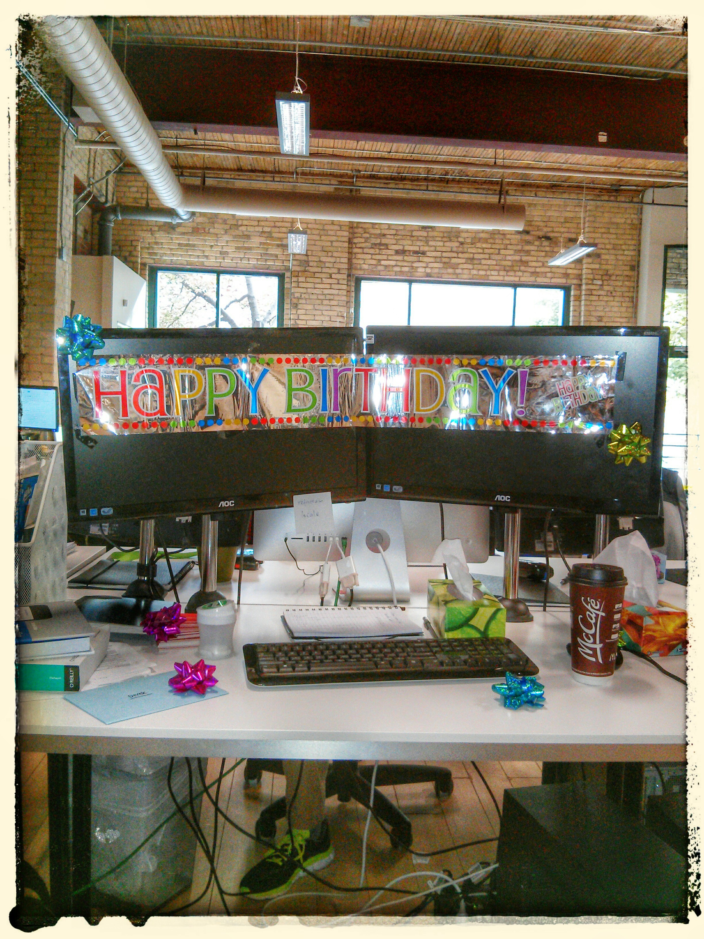 Birthday in the office